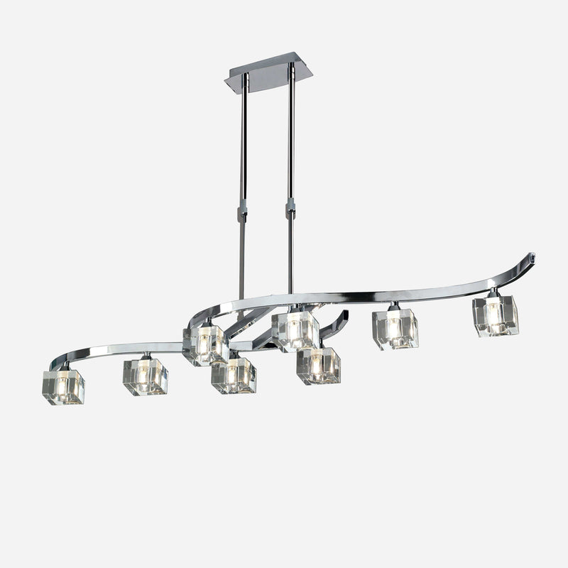 Cielo 8 Light Telescopic Suspension Light - Chrome      304.90  Mantra Lighting
