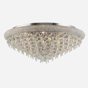 Sinistra 16 Light Crystal Ceiling Light - Chrome      2154.90  iLite Lighting