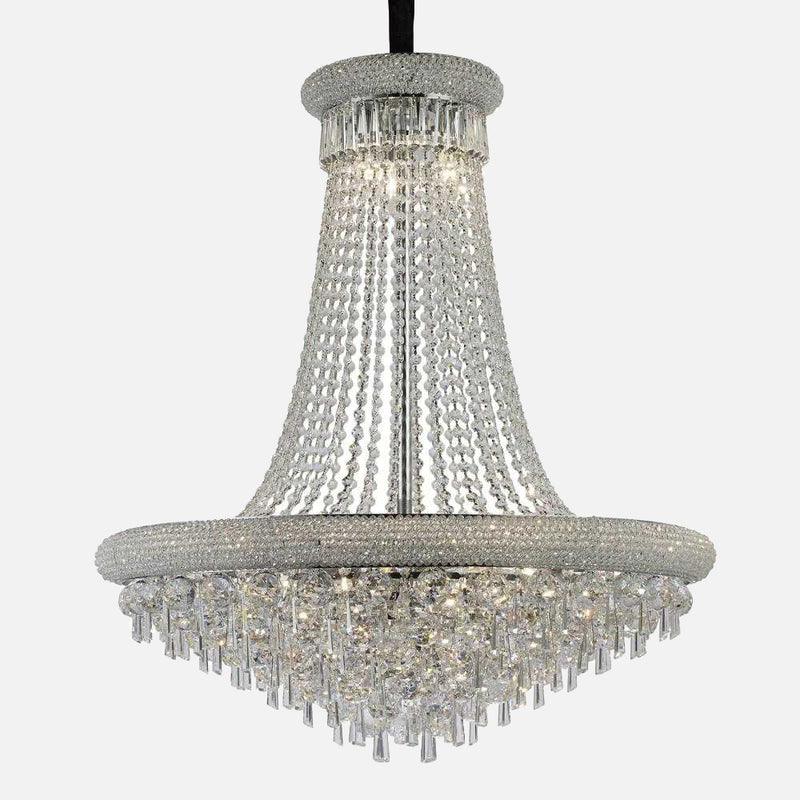 Sinistra 18 Light Crystal Suspension - Chrome      3234.90  Diyas Lighting