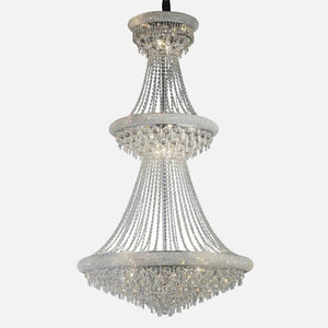 Sinistra 29 Light Crystal Suspension - Chrome      6474.90  iLite Lighting