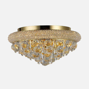 Sinistra 6 Light Crystal Ceiling Light - Gold      689.90  Diyas Lighting