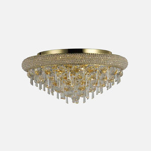 Sinistra 7 Light Crystal Ceiling Light - Gold      869.90  iLite Lighting