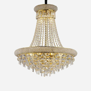 Sinistra 13 Light Crystal Suspension - Gold      2034.90  Diyas Lighting