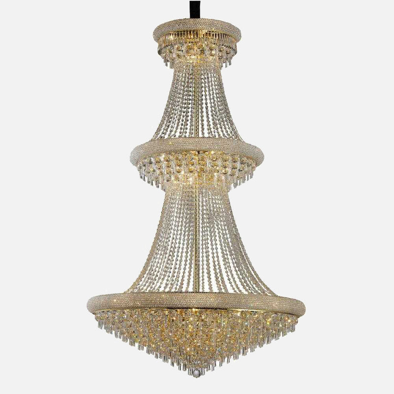 Sinistra 37 Light Crystal Suspension - Gold      10194.90  iLite Lighting