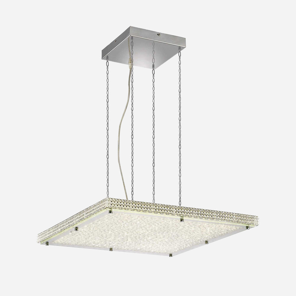 Capire Crystal LED Square Suspension