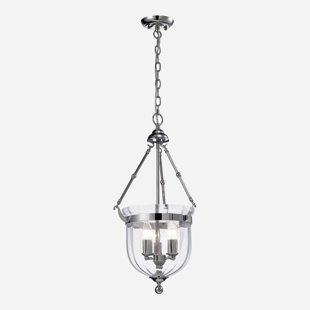 Curare 3 Light Lantern - Chrome