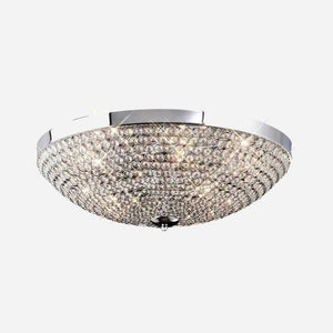 Bambini 6 Light Crystal Ceiling Light - Chrome | iLite Lighting