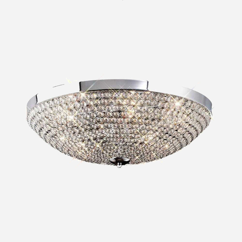 Bambini 6 Light Crystal Ceiling Light - Chrome      254.90  Diyas Lighting
