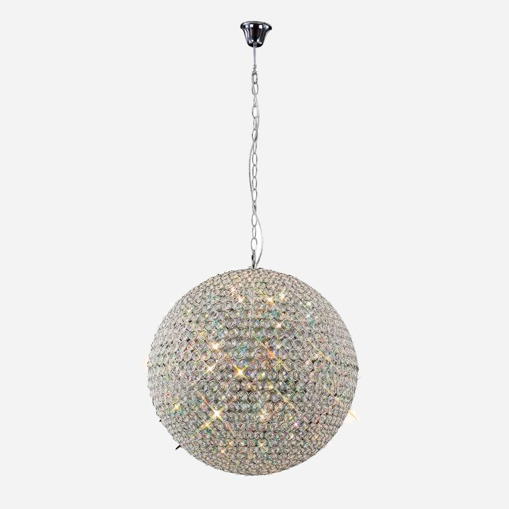 Bambini 9 Light Crystal Globe - Chrome