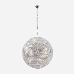 Bambini 18 Light Crystal Suspension - Chrome      2999.90  iLite Lighting