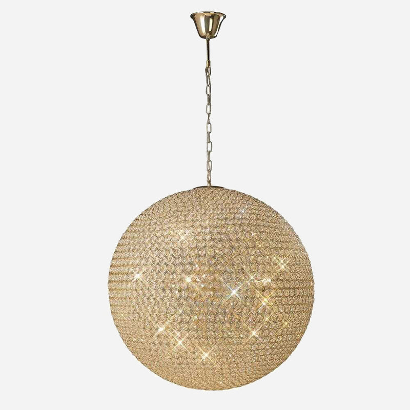 Bambini 12 Light Crystal Suspension - Gold      2489.90  iLite Lighting