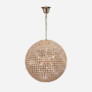 Bambini 9 Light Crystal Globe - Gold