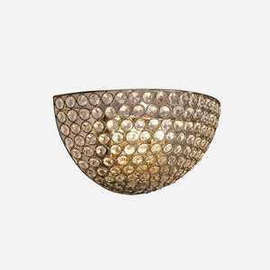 Bambini 2 Light Circular Crystal Wall Light - Gold      84.90  Diyas Lighting