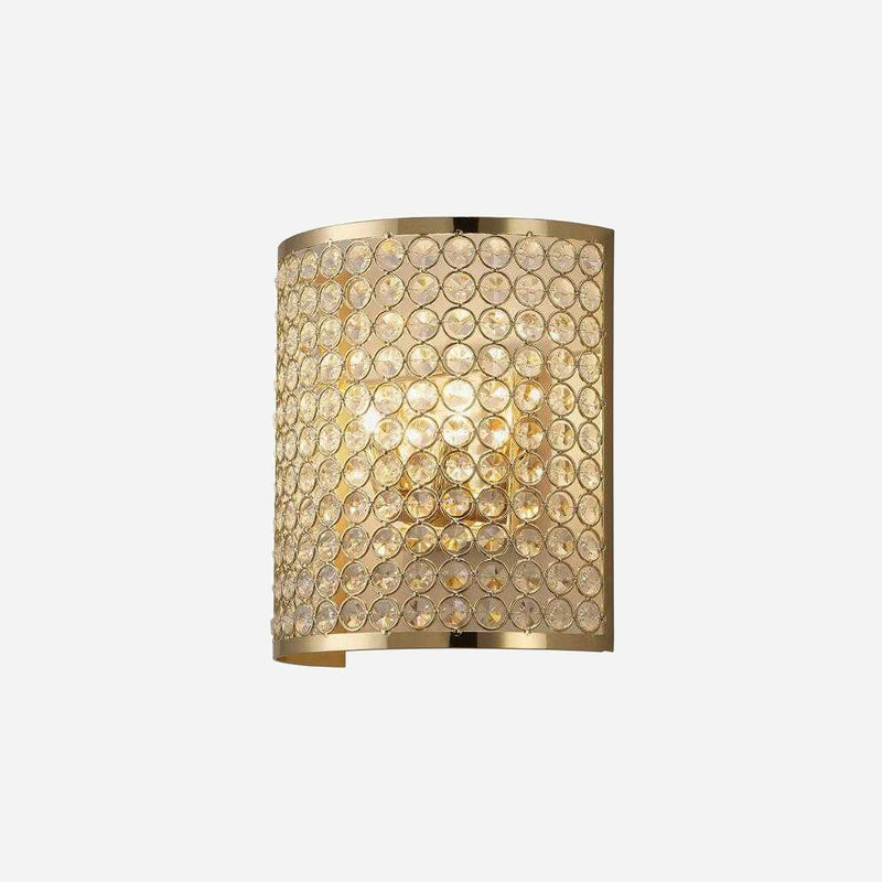 Bambini 2 Light Crystal Wall Light - Gold      104.90  Diyas Lighting