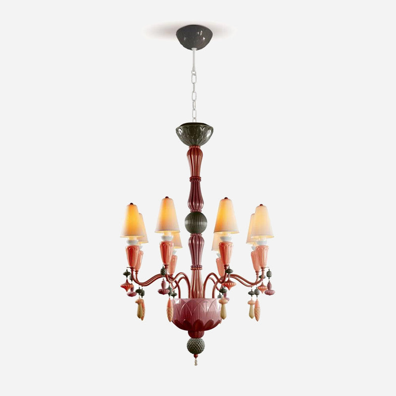 Ivy and Seed 8 Lights Chandelier - Red Coral      3064.00  Lladro Lamps & Figurines