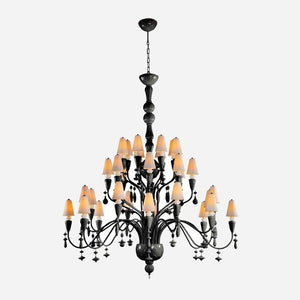 Ivy and Seed 32 Lights Chandelier - Absolute Black | iLite Lighting