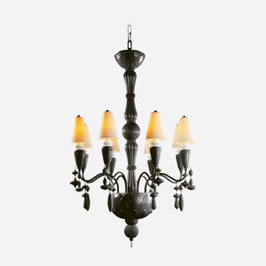 Ivy and Seed 8 Lights Chandelier - Absolute Black      3064.00  iLite Lighting