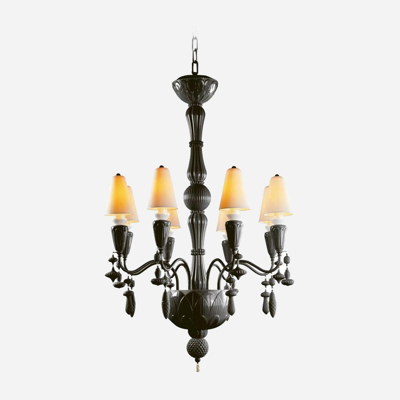 Ivy and Seed 8 Lights Chandelier - Absolute Black | iLite Lighting