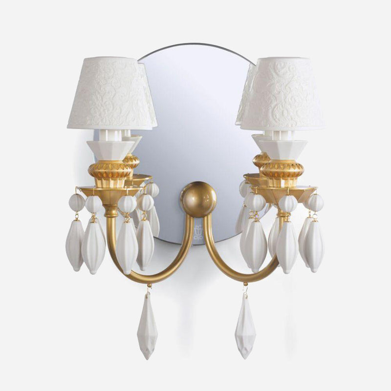 Belle De Nuit Wall Light - Golden Luster      1079.00  Lladro Lamps & Figurines