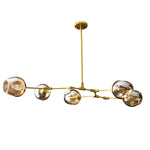 Tree 5 Globe Suspension Light - Gold