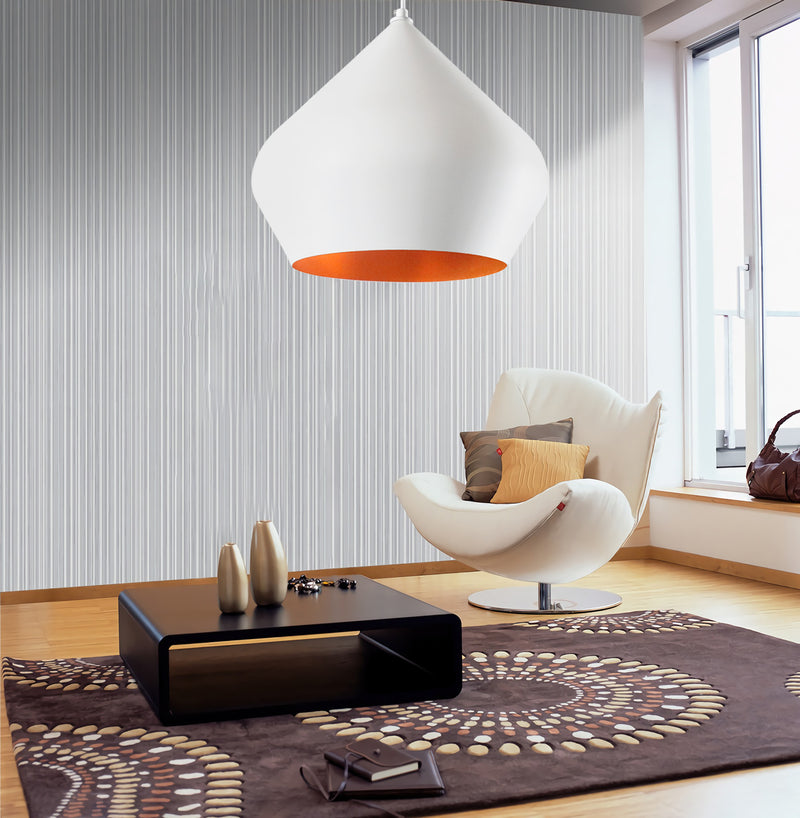 Funk Stout 36cm Pendant Light - White