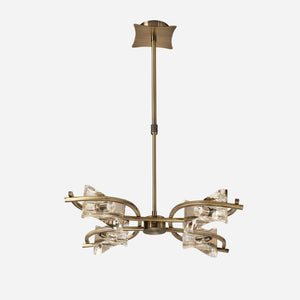 Ogni Telescopic Convertible 4 Light Suspension - Antique Brass      334.90  iLite Lighting