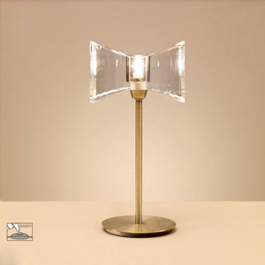 Ogni 1 Light Horizontal Table Lamp - Antique Brass