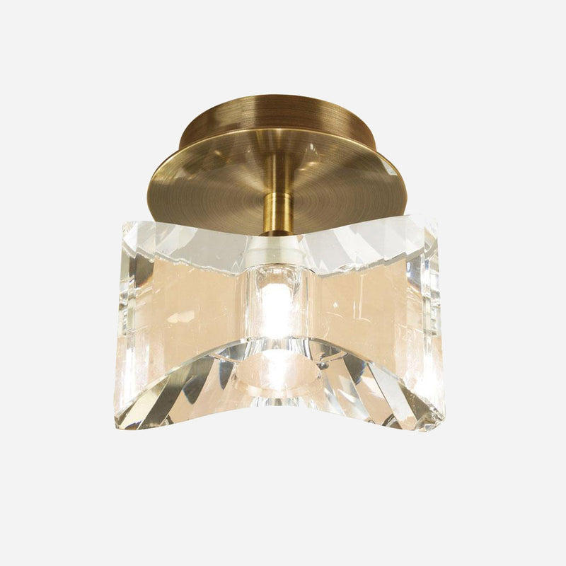 Ogni Glass Ceiling Downlight - Antique Brass      69.90  iLite Lighting