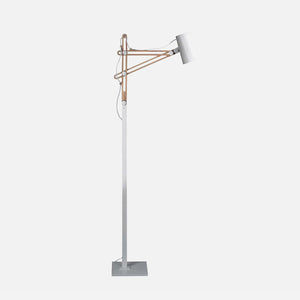 Amare Floor Lamp - White/Beech      344.90  iLite Lighting