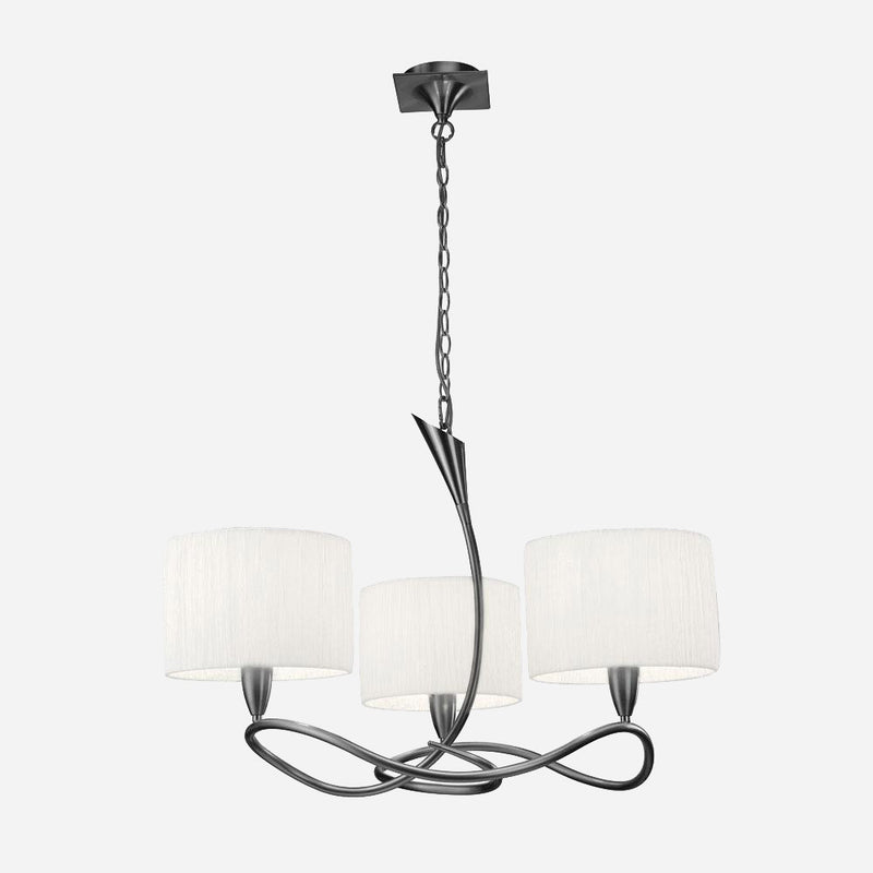 Gia 3 Light Chandelier - Satin Nickel      319.90  Mantra Lighting