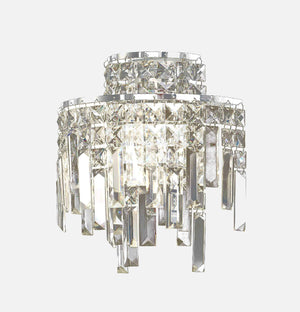 Volete 2 Light Crystal Wall Light - Chrome      159.90  Diyas Lighting