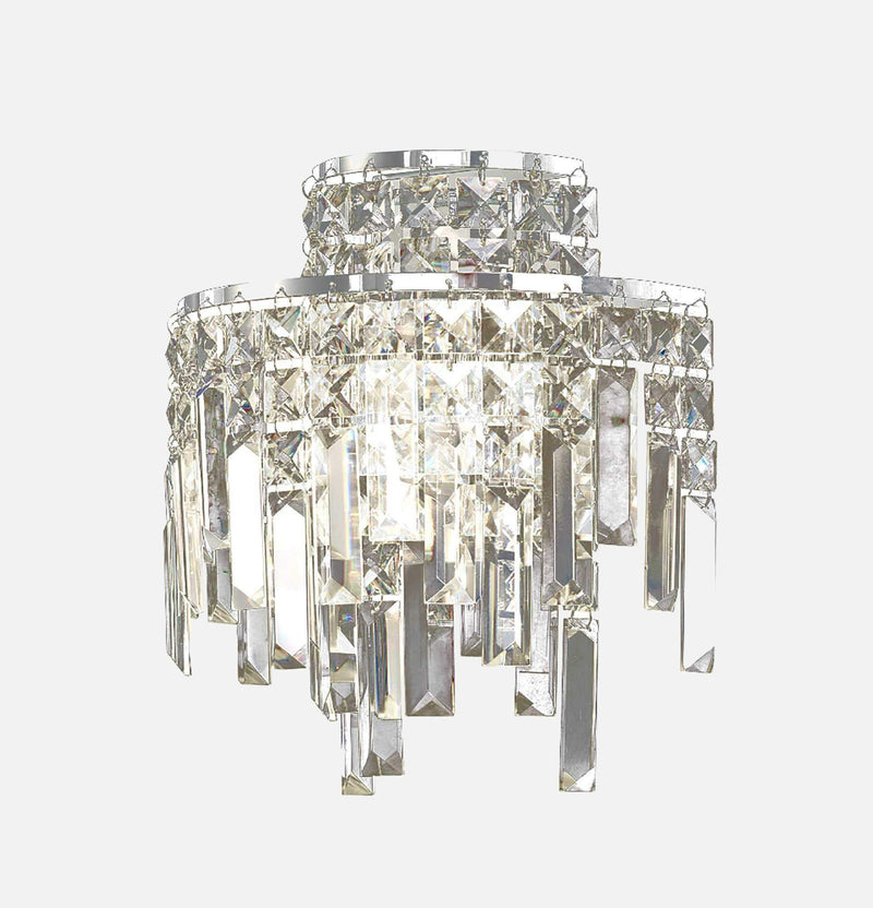Volete 2 Light Crystal Wall Light - Chrome | iLite Lighting