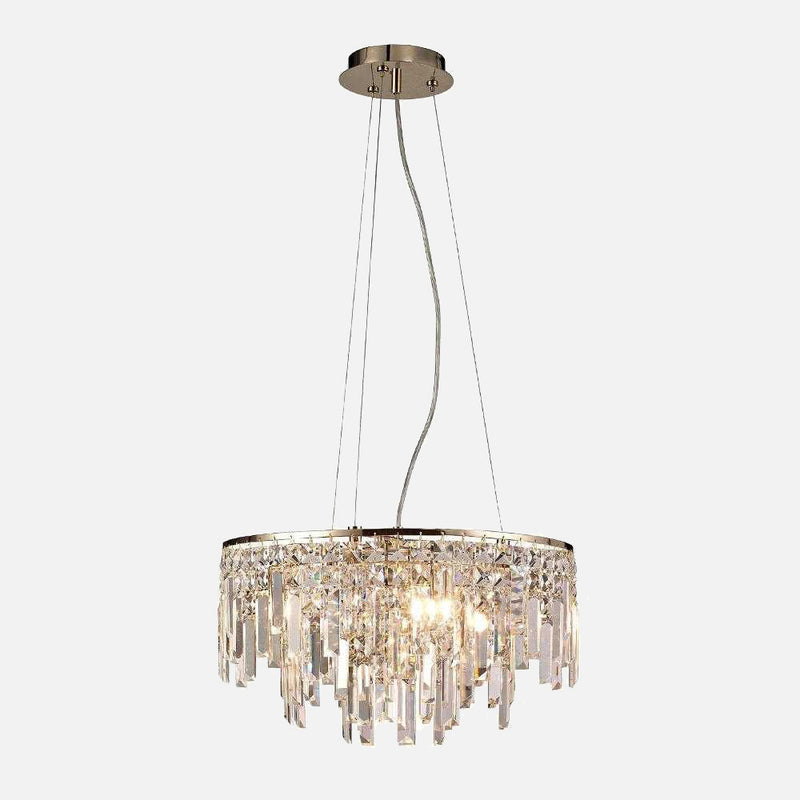 Volete 6 Light Crystal Round Suspension - Rose Gold      474.90  Diyas Lighting