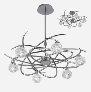 Virginia 6 Light Telescopic Suspension Light - Chrome      404.90  iLite Lighting