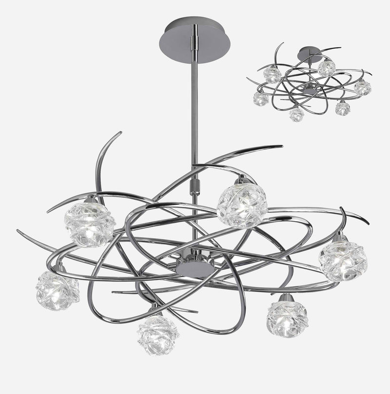 Virginia 6 Light Telescopic Suspension Light - Chrome      404.90  Mantra Lighting