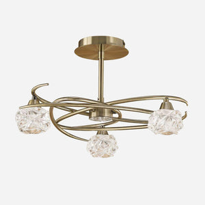 Virginia 3 Light Ceiling Light - Antique Brass      179.90  iLite Lighting