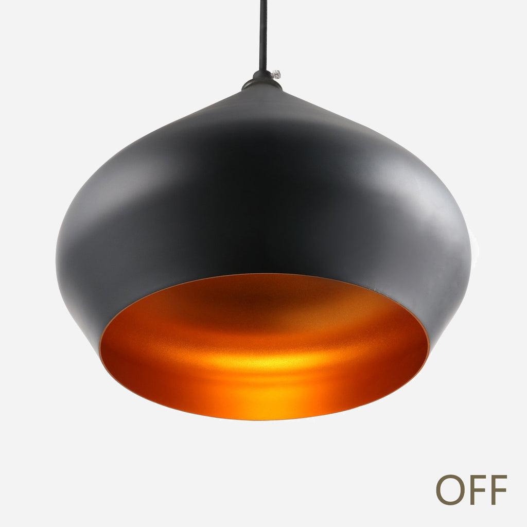Funk Stout 36cm Pendant Light - Black