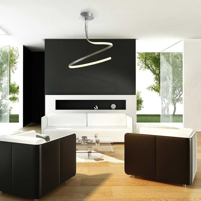 Bene LED Single Spiral Ceiling Light - Black      319.90  Mantra Lighting