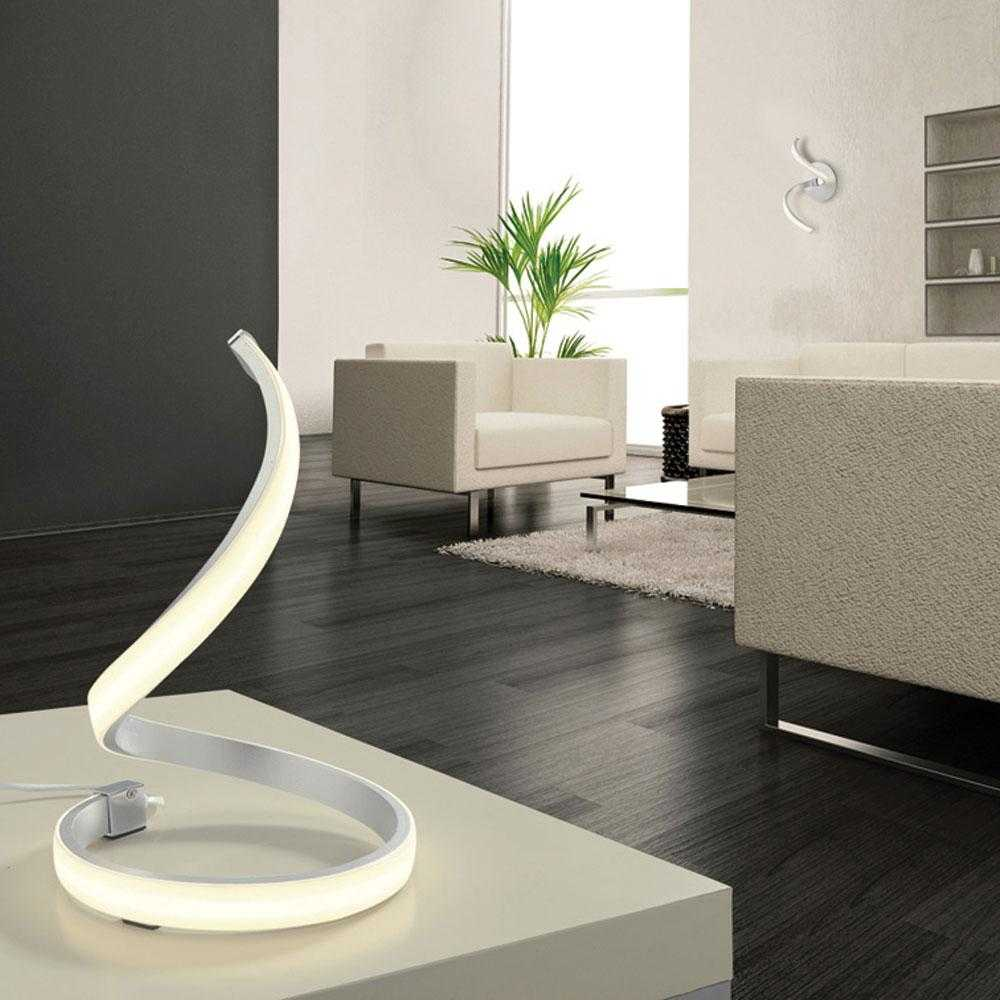 Bene LED Floor Lamp - Chrome | iLite Lighting