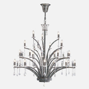 Ogni 21 Light Crystal Chandelier - Black Chrome      4559.90  iLite Lighting