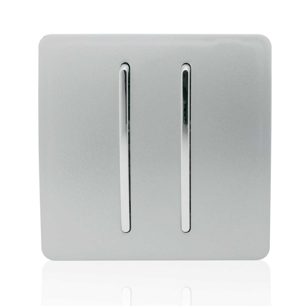 2 Gang Doorbell Silver      14.95  Trendiswitch