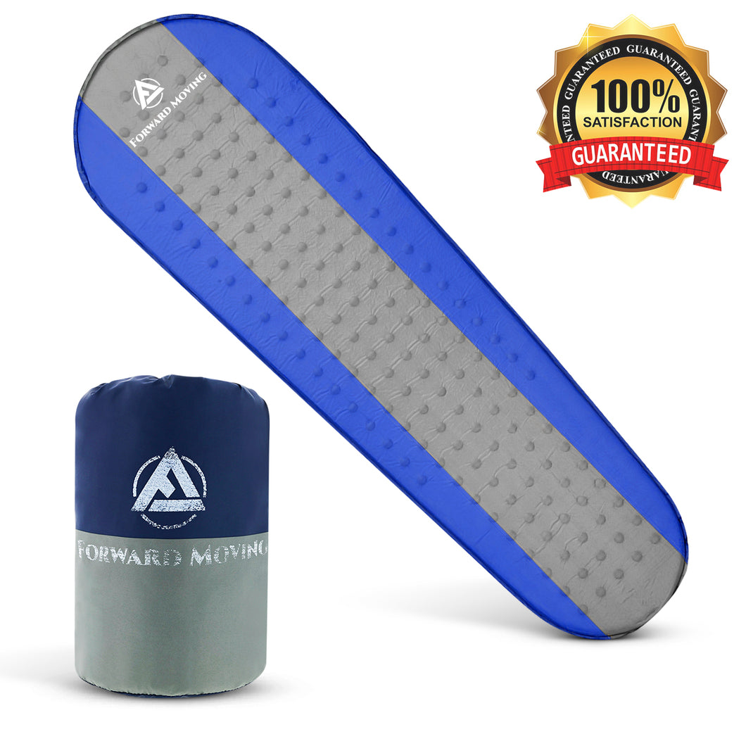 Forward Moving Self Inflating Sleeping Pad Sleep Comfortably Anywhere - Extra Thick 1.5