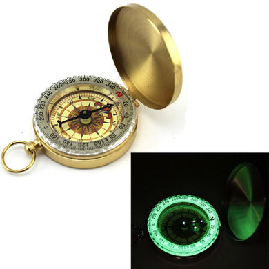 Lightweight Pocket Brass  Outdoor Camping Hiking Navigation Compass Keychain outdoor hiking tools