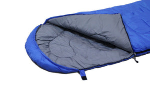 High Quality Outdoor Light Sleeping Bag with Carrying Case in Cool Blue