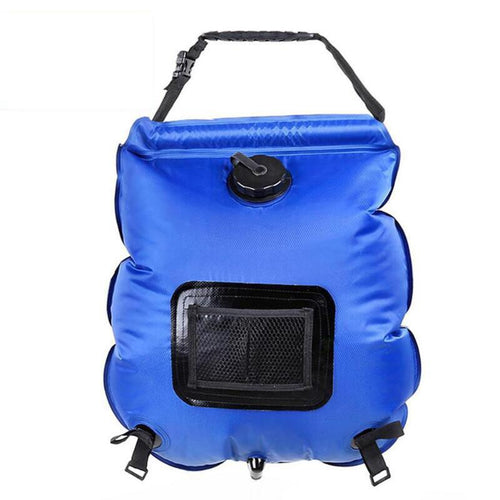 20L Shower Bag Foldable Solar Energy Heated Camp PVC Water Bag Outdoor Camping Travel Hiking Climbing BBQ Picnic Water Storage