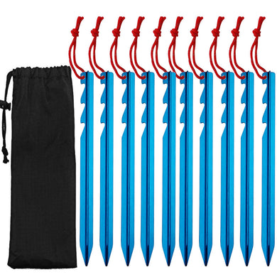 10pcs Lightweight and Portable Camping Tent Stakes