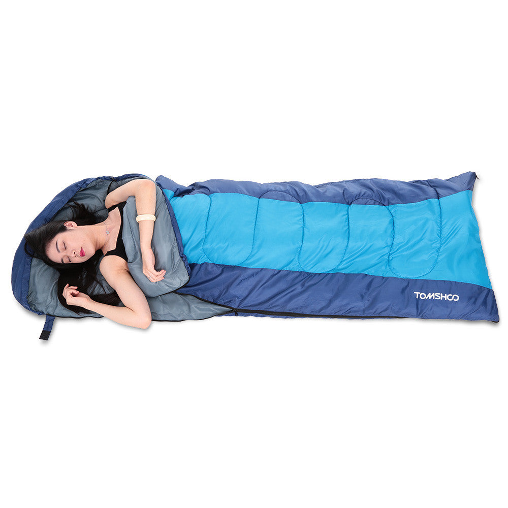 Thermal Adult Outdoor Hooded Envelope Sleeping Bag Camping Travel Hiking Multifunction Thick 1.5kg 0-15℃