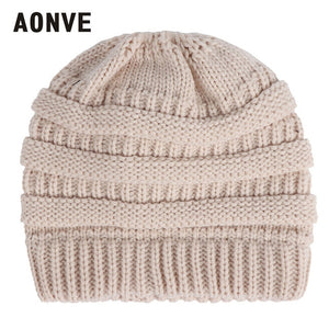 Stylish Pony Tail Knitted Beanie