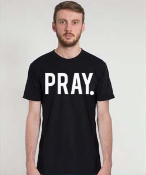 Christian T-Shirt Company- Pray Shirt - Christian Clothing Malachi Clothing Co