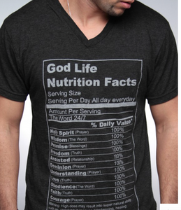 God Life Nutrition Facts- Christian Mens Clothing - Christian Clothing Malachi Clothing Co